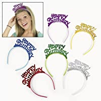 Happy Birthday Headbands (1 dz) [並行輸入品]