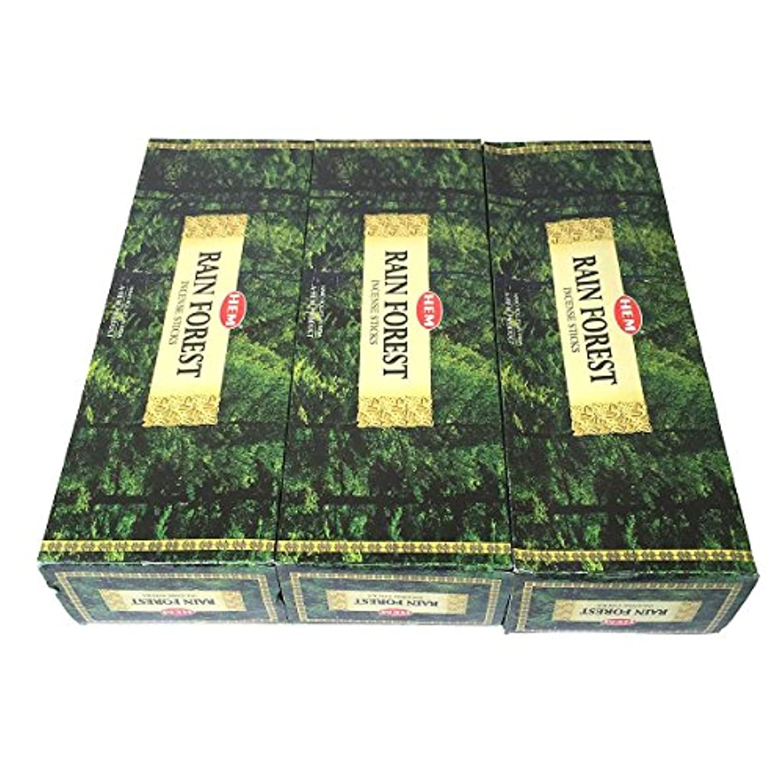 真剣に賛辞層レインフォレスト香スティック 3BOX(18箱) /HEM RAIN FOREST/インセンス/インド香 お香 [並行輸入品]