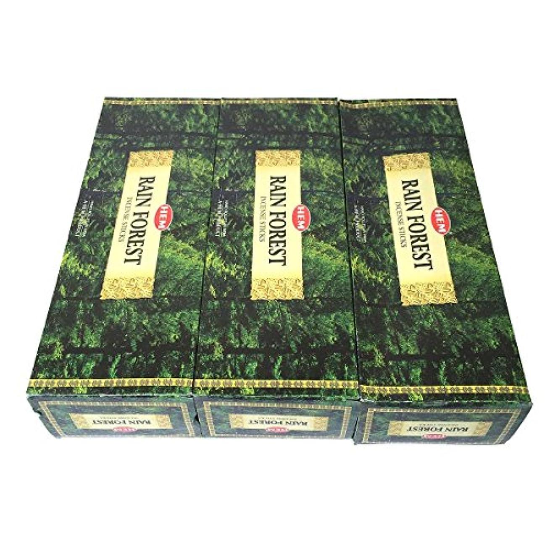 インフラ乱闘好意レインフォレスト香スティック 3BOX(18箱) /HEM RAIN FOREST/インセンス/インド香 お香 [並行輸入品]