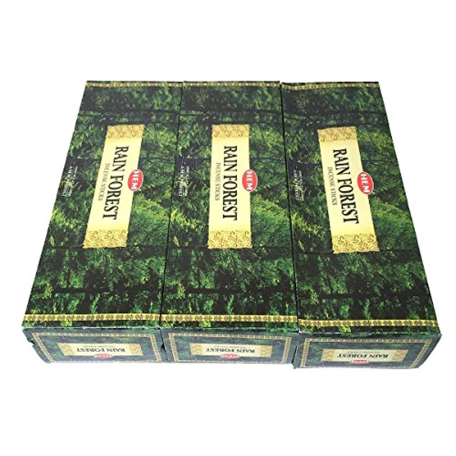 証書ゆでる成功レインフォレスト香スティック 3BOX(18箱) /HEM RAIN FOREST/インセンス/インド香 お香 [並行輸入品]