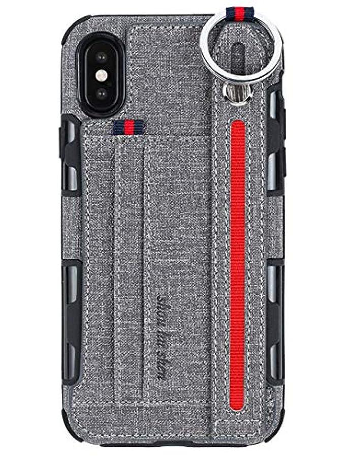 キャプテン歴史家コレクション[アイ?エス?ピー]isp 正規品 スマホケース iPhone XS/XS Max/XR/X/8/7/6s Plus 専用 保護カバー 耐衝撃 TPU スタンド リストバンド カード カジュアル