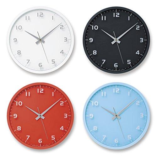Lemnos nine clock 電波時計 ブラック LC08-14W BK
