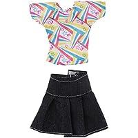 FLAMEER バービー人形服のため 手作り デニムスカート トップ スーツ 人形ドール 衣類