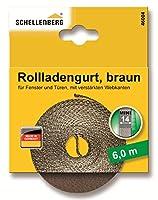 Schellenberg 46004ローラーシャッターベルト14 mm / 6mブラウン