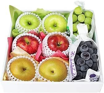 【 贈答用 】 秋のフルーツセット 種無し葡萄 林檎 梨 (中セット)