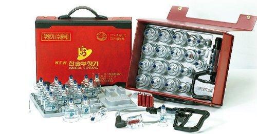 カッピング セット プハン 吸い玉 カップ5種類 19個 つぼ押しピン10本付き ハンディケース入り