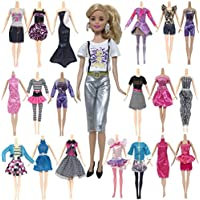 10 PCS デイリーアパレル人形服女の子のドレス衣類ためにバービー人形ランダムスタイル