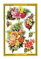 マメロック イギリス製 クロモス スクラップシート (鮮やかな花束) A92