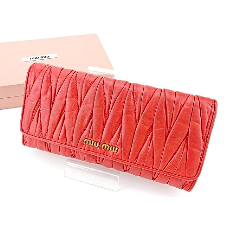 [ミュウミュウ] miu miu 長財布 財布 ファスナー付き レディース マテラッセ 中古 T4447