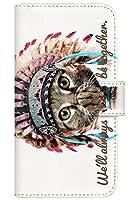 with NYAGO 手帳型 ケース レザー 厚手タイプ SIMフリー FREETEL RAIJIN (FTJ162E) インディアン ソラちゃん 肉球をペロペロするにゃー。 かわいい猫フェイス手帳 7002 ミラノ ホワイト