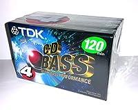 TDK CD Heavy Bassパフォーマンス120分オーディオカセットテープ–4パック