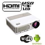 EZAPOR X760+ wifi LEDプロジェクター Android4.4.4 システム 2600lm HD1080P ビジネス用 USB HDMI VGA-In AV S-Video Mini-Jack Audio-In RS-232c入力端子に対応