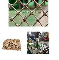 登山ネット麻縄ネット屋外の子供の落下防止の安全ネット吊橋保護回廊の背景の壁の装飾ネット幼稚園の手作りアート壁 (Size : 1*9m)