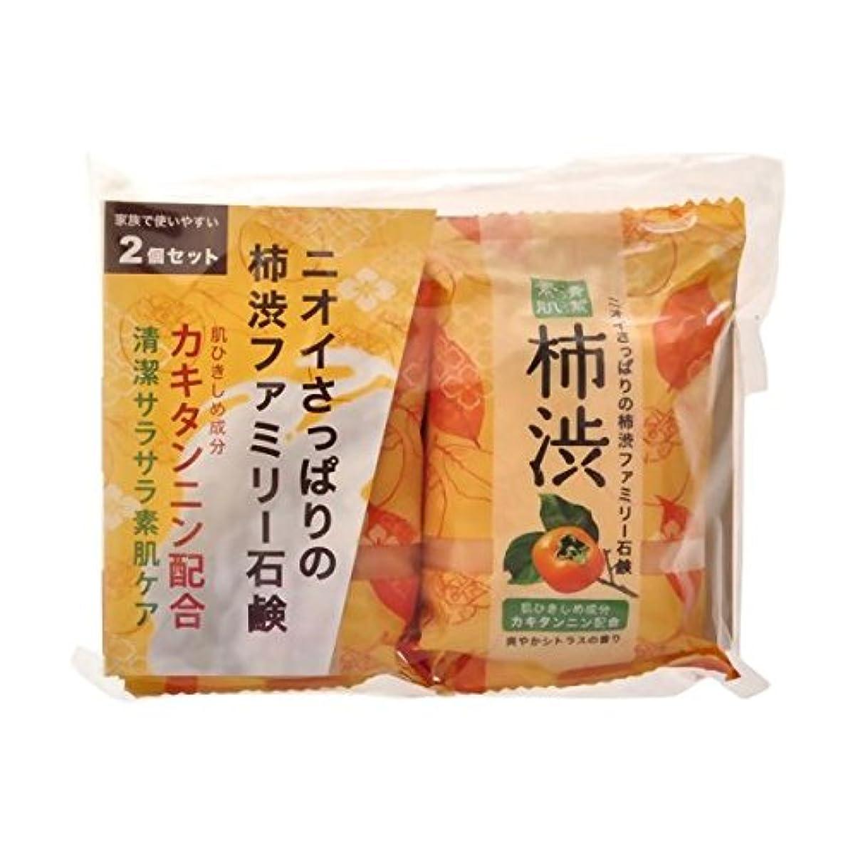 副詞ロッカー敵【お徳用 6 セット】 ペリカン 柿渋ファミリー石鹸 80g×2個×6セット