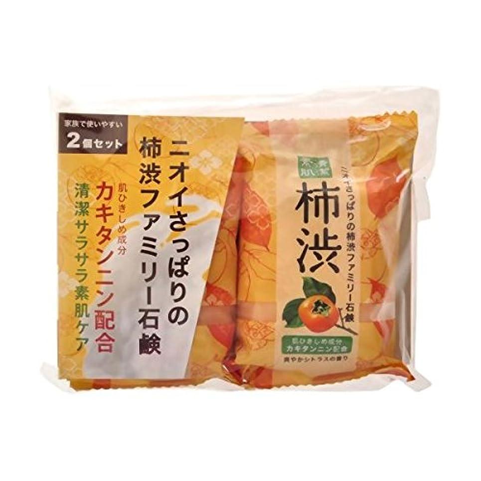暴力刈る幻滅する【お徳用 6 セット】 ペリカン 柿渋ファミリー石鹸 80g×2個×6セット