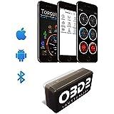OBD-AUS OBD2 Scan Tool Bluetooth OBDII Scanner - Find & Clear Engine Faults, Live Custom Dashboards, Torque ELM327