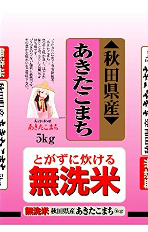 【精米】秋田県産 無洗米 あきたこまち 5kg 平成29年産