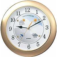 エンペックス気象計 壁掛け時計 ウェザーパル 天気予報機能付き 日本製 シャンパンゴールド BW-5048