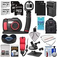 SeaLife DC2000 HD 水中デジタルカメラ Sea Dragonフラッシュセット & 0.75倍広角レンズ + 64GB カード2枚 + バッテリー&充電器 + マウント + バックパックキット