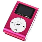【液晶付き】 MP3プレーヤー 本体 microSDカード対応 【携帯に便利なスポーツクリップ付き】【おしゃれなメタリック調】【シンプルでコンパクトなデザイン】 | MPA-03 (ショッキングピンク)