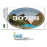 30728 ラ・ファイエット, GA - 川岩 - 楕円形郵便番号ステッカー