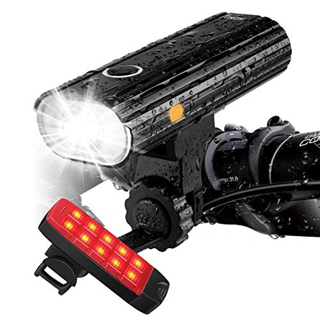 法的ホーム滑るAUOPRO 自転車 ライト usb充電式 フロントライト リアライト セット ledライト 高輝度 800lm 5モード 防水 懐中電灯 夜間ライトテールライト ヘッドライト