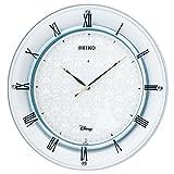 セイコー クロック 掛け時計 シンデレラ 電波 アナログ 金属枠 大人ディズニー 白 パール FS503W SEIKO