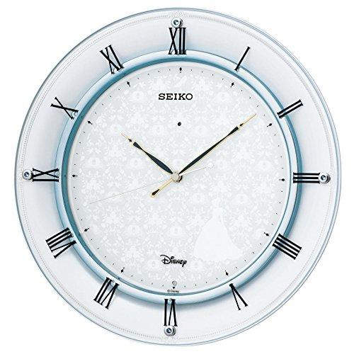 SEIKO CLOCK(セイコークロック) ディズニー シンデレラ 電波掛時計(白パール塗装) FS503W