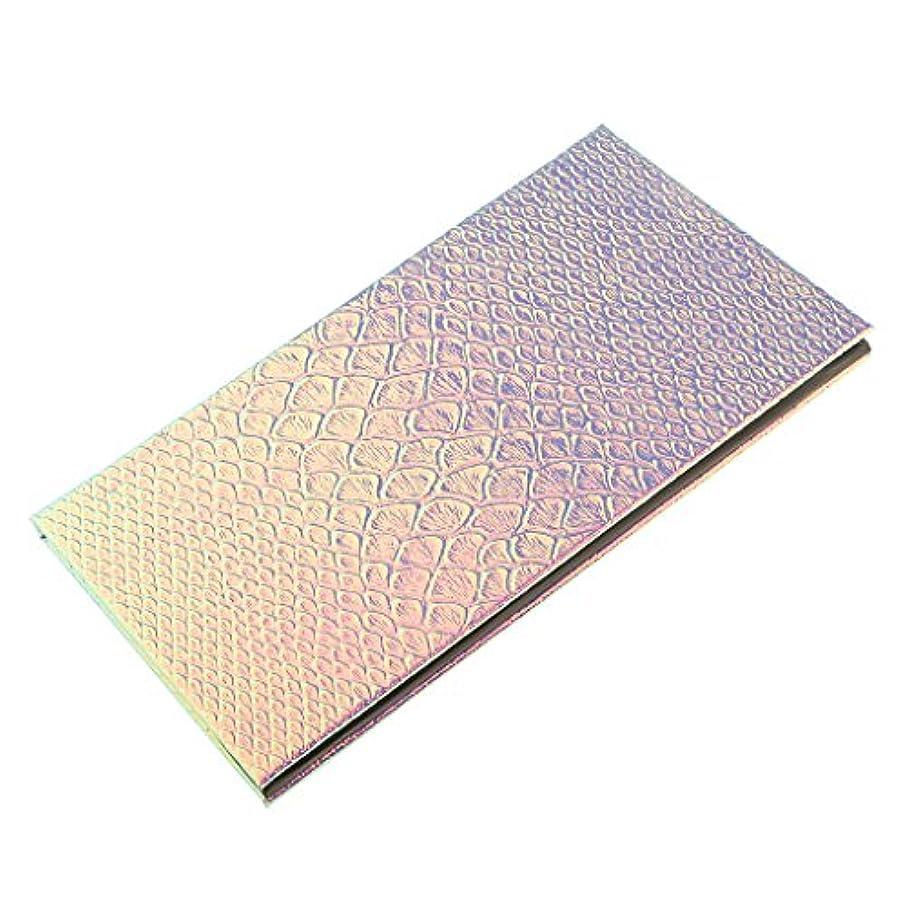 区画デュアルジェット磁気パレットボックス 空の磁気パレット メイクアップ 化粧 コスメ 収納 ボックス 全2サイズ選べ - 18x10cm