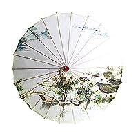 古代様式のHanfuの油紙の傘、古典的な傘、雨防止の桜のビンテージダンスパフォーマンス,Color8