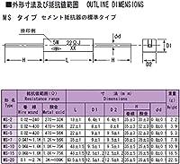 TDO抵抗器 角形セメント抵抗器 20W MS-20 150ΩJ (10個入)