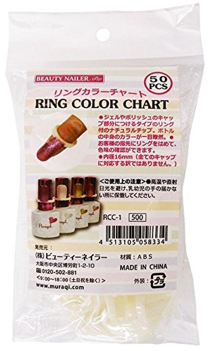 ビーチラバ硬化するビューティーネイラー ネイルアートパーツ RING COLOR CHART RCC-1