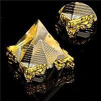 BTCS-X ファッションエネルギーヒーリング小さな風水エジプトエジプトエジプトクリスタルクリアピラミッド飾り家の装飾リビングルームの装飾 工芸品