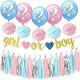 可愛い ベビーシャワー 飾り付け ピンク ブルー ゴールド シルバー 男 女 誕生日 おしゃれ ペーパーフラワー バルーン 風船 タッセル ガーランド 12枚セット