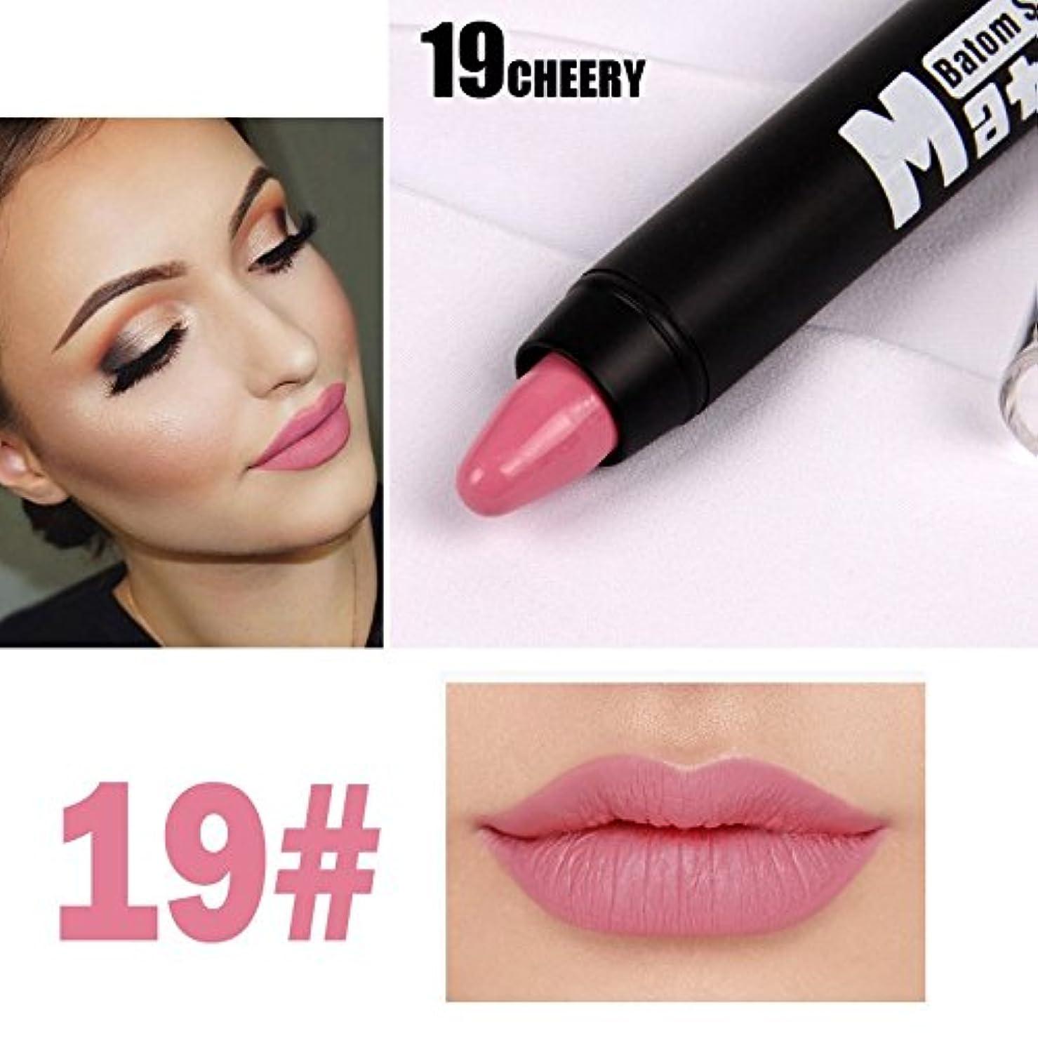 強大なフロント欠員MISS ROSE Professional Women Waterproof Lipstick Lips Cream Beauty Lote Batom Matte Lipstick Nude Pencils Makeup
