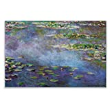 Monet Wall Art Collection Water Lilies, 1906 02 by Claude Monet Canvas Prints Wrapped Gallery Wall Art |Ready to Hang 12X18, 59MONET