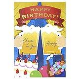 学研ステイフル メッセージカード 誕生日 ミュージック ライト付き ビール B88165