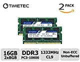 Timetec Hynix IC 16 GB Kit (2x8GB) ノートPC用メモリ DDR3 1333 MHz PC3 10600 204 Pin SODIMM Laptop upgrade 永久保証 (16 GB Kit(2x8GB))