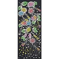 手ぬぐい 夏の風物詩 Kenema 紫陽花風鈴(あじさいふうりん) 6枚購入で送料無料