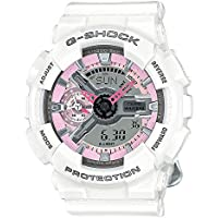 Casio G-Shock S-Series GMA-S110MP-7A White Pink Midsize Digital Analog Women's Watch