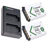 Smatree NP-BX1 互換バッテリー(2個)+急速デュアル充電器 Sony Cyber-shot DSC-RX100、HDR-CX405など対応