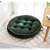 Mauwey Round Cushion Floor Pillow Chair Seat Cushions Big 3D Biscuit Pillows Meditation Garden Balcony Decoration Green