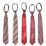ワンタッチネクタイ ジップ式簡単ネクタイ 10秒装着できる 結婚式 就活 紳士 父の日 プレゼント 多種類 お得5本セット
