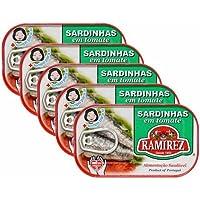 サルジンニャス(イワシのトマトソース漬け) ラミレス 125g×5個セット