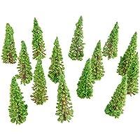 50本セット 樹木 モデルツリー 模型 木 森 材料 キット 鉄道 建物 ジオラマ 箱庭 風景 情景コレクションザ 教育 写真 6.5cm
