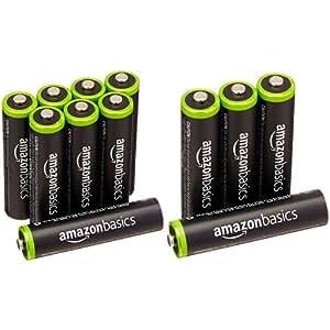 Amazonベーシック 充電式ニッケル水素電池 単4形12個パック (最小容量750mAh、約1000回使用可能)