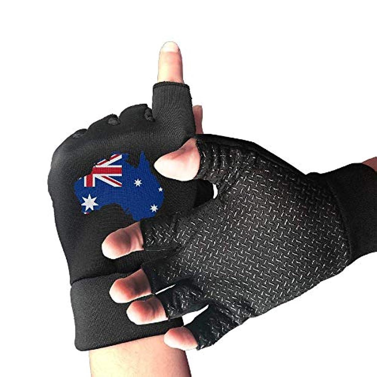 オープニングコンパイル購入Cycling Gloves Flag of Australia Men's/Women's Mountain Bike Gloves Half Finger Anti-Slip Motorcycle Gloves