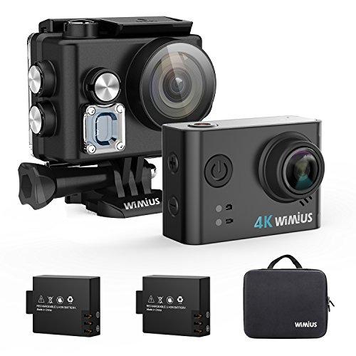 WIMIUS アクションカメラ 4k ウェアラブルカメラ 防水ケース装着充電 水中カメラ バイクカメラ 車載カメラ
