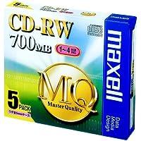 maxell データ用 CD-RW 700MB 4倍速対応 5枚 5mmケース入 CDRW80MQ.S1P5S
