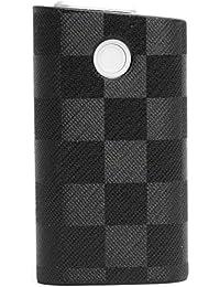 glo グロー ケース PUレザー ハードケース カバー まるっと 日本製 凸凹 BLACK7 ブラック 黒 市松模様L